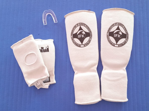 mitts and shinpads
